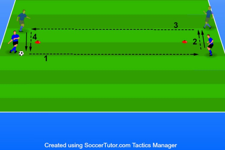 Two cone Two Touch Passing